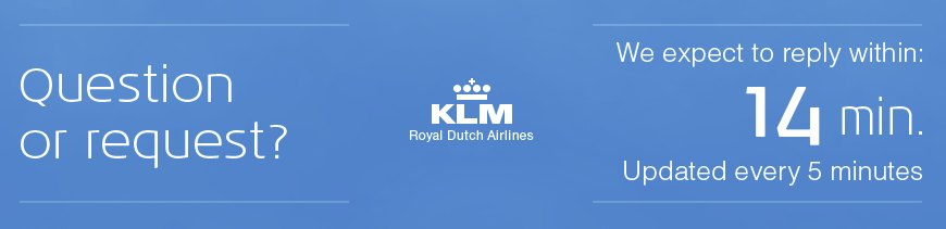 KLM est. time to respond