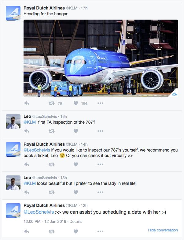 KLM vliegtuigliefhebber