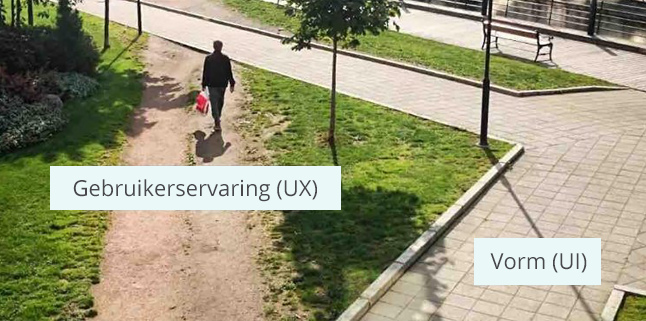 Hoe olifantenpaadjes het verschil aangeven tussen gebruikerservaring (UX) en vorm (UI)