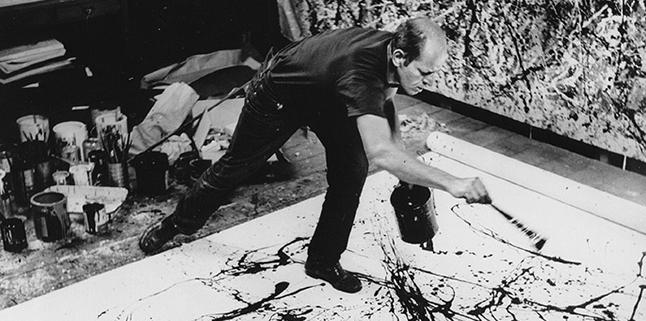 Jackson Pollock in actie